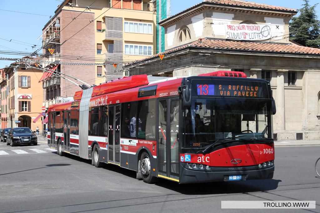 Solaris trollino trolleybusse - Piazza di porta saragozza bologna ...